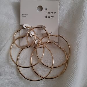 4/$25 a new day Hoop Earrings